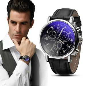 Other - ⌚️NEW⌚️ Luxury Mens Analog Leather Quartz Watch